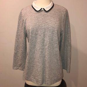 Gray J. Crew Faux Sweater Sz L